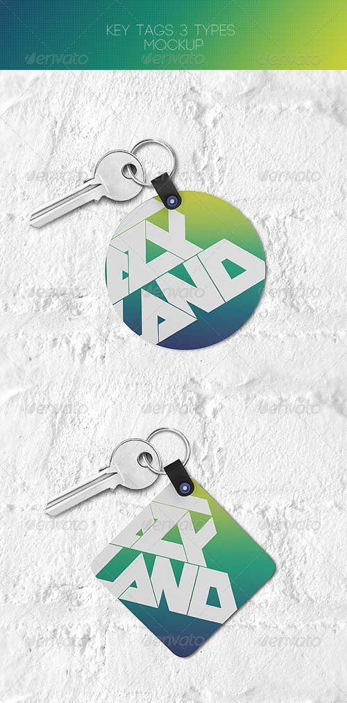 GraphicRiver Key Tags Mock-up