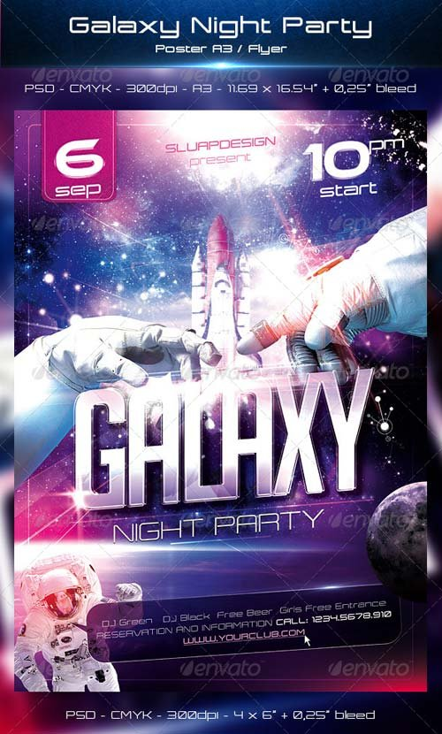 GraphicRiver Galaxy Night Party Templates