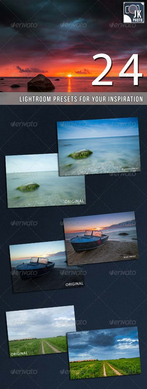 GraphicRiver 24 Pro Landscape Lightroom Presets
