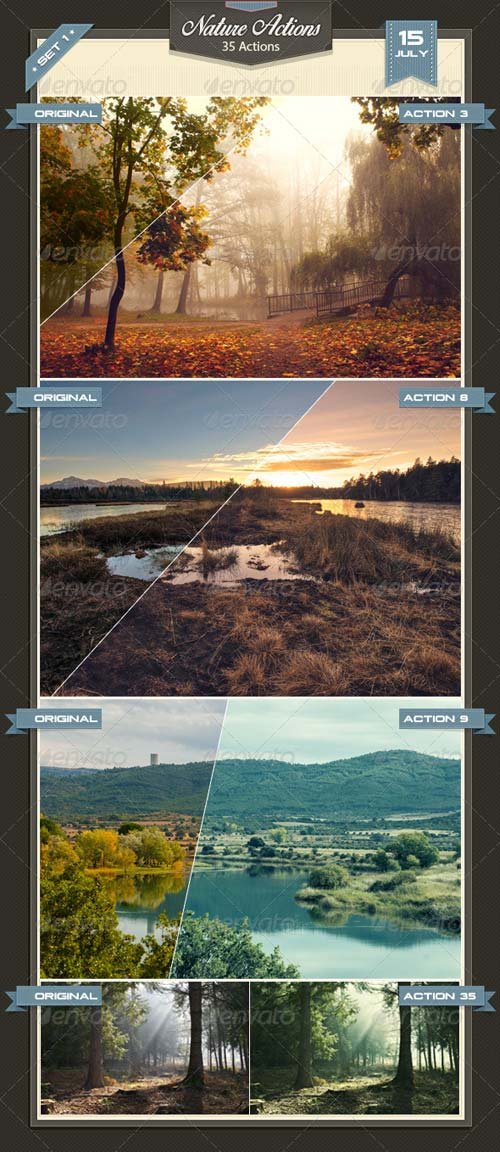GraphicRiver Nature Photoshop Actions