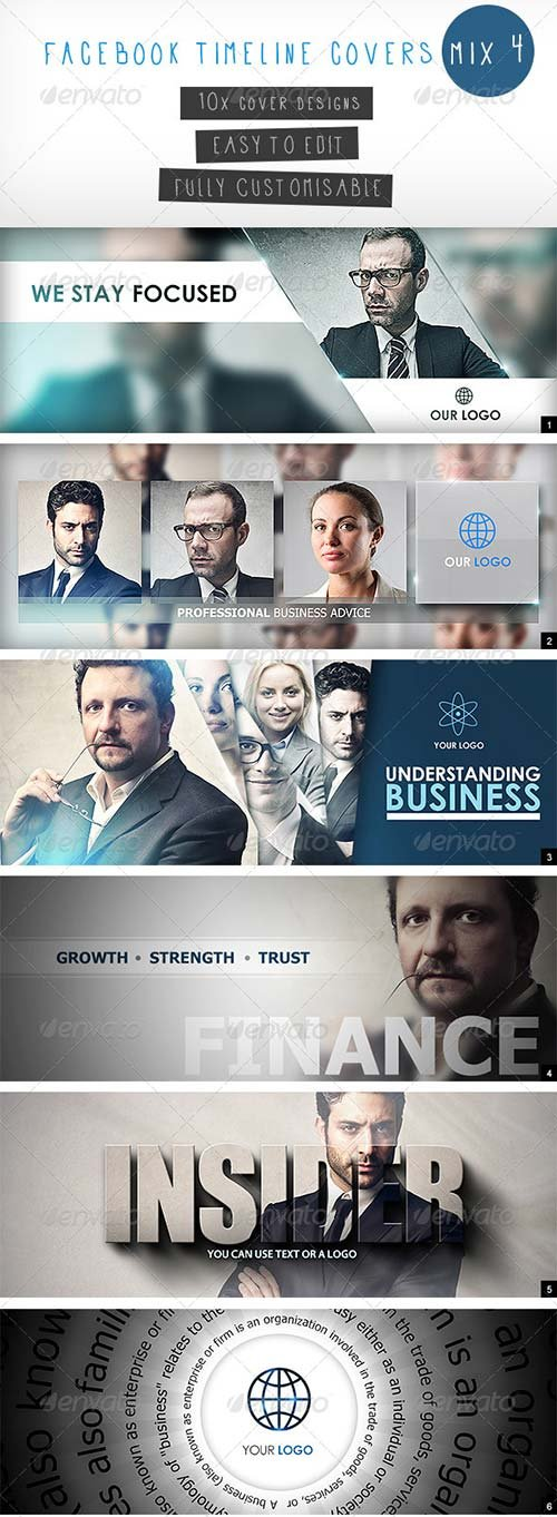 GraphicRiver Facebook Timeline Covers Mix 4