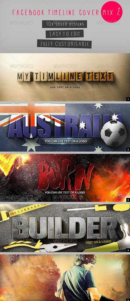 GraphicRiver Facebook Timeline Covers Mix 2