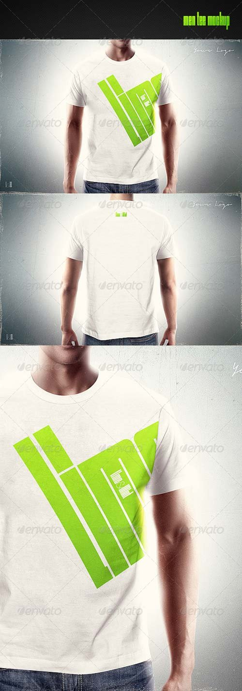 GraphicRiver Men T-Shirt Mock-up 8241029