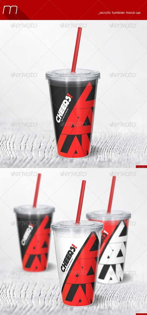 GraphicRiver Acrylic Tumbler Mock-up