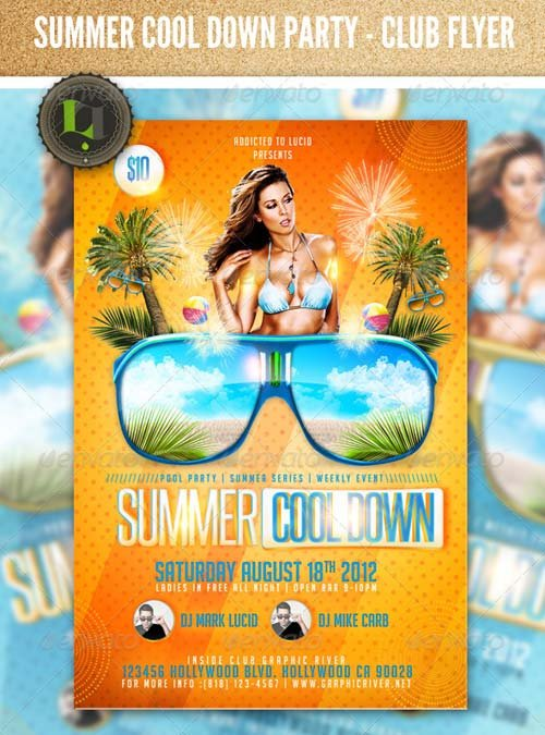 GraphicRiver Summer Cool Down Party - Club Flyer