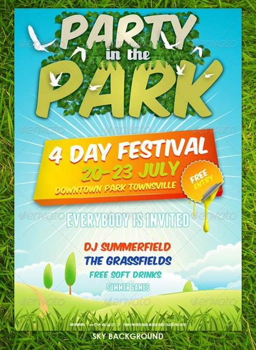 GraphicRiver Summer Nature Party Flyer Template