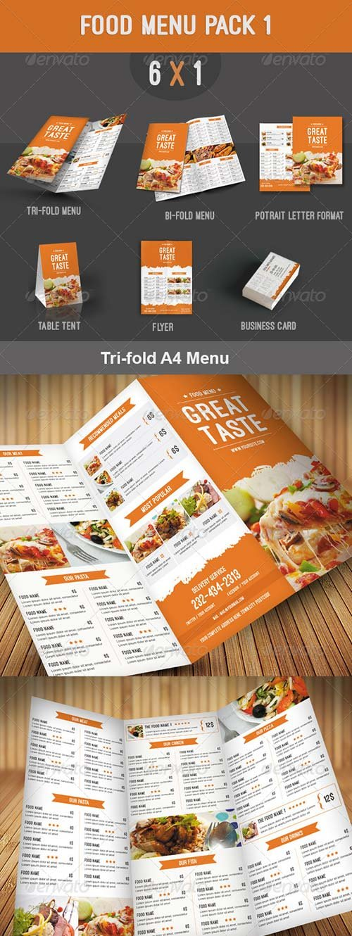 GraphicRiver Food Menu Pack 1