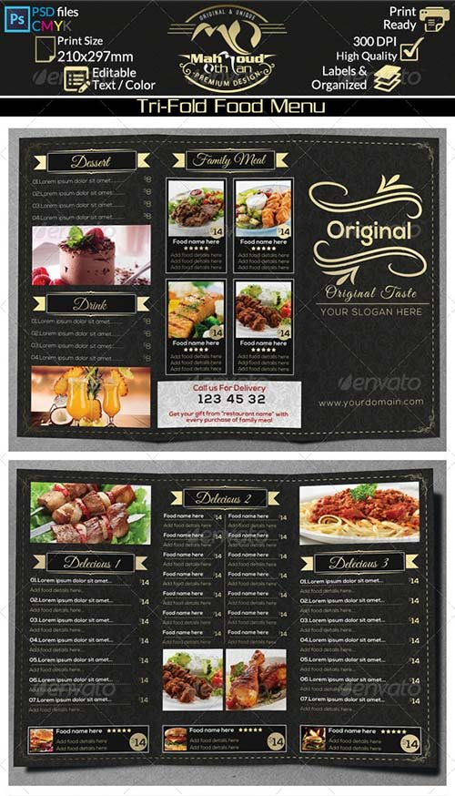GraphicRiver Restaurant Food Menu Trifold