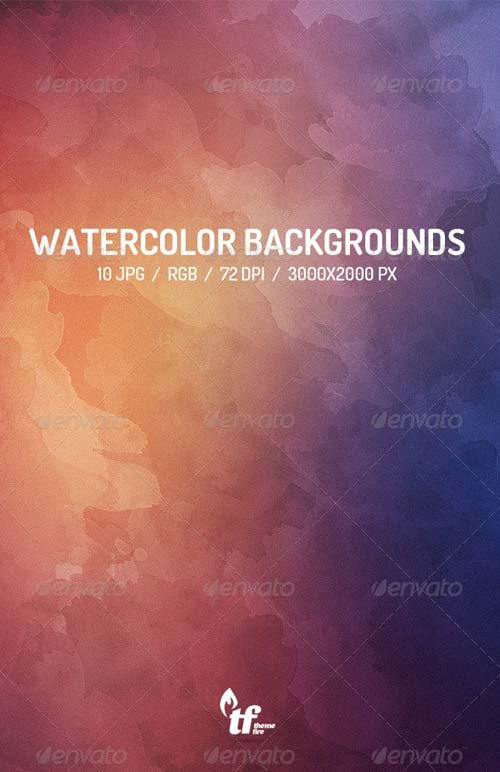 GraphicRiver 10 Watercolor Backgrounds