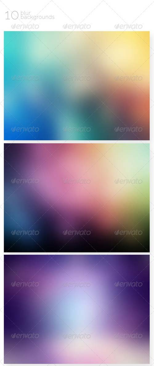 GraphicRiver 10 Blur Backgrounds