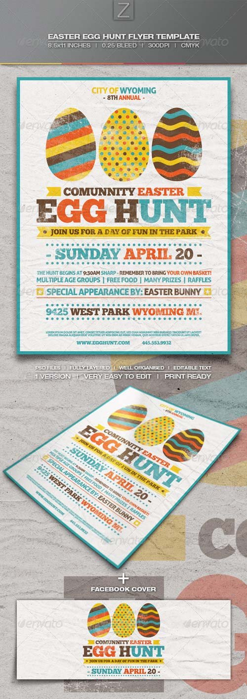 GraphicRiver Easter Egg Hunt Flyer Template