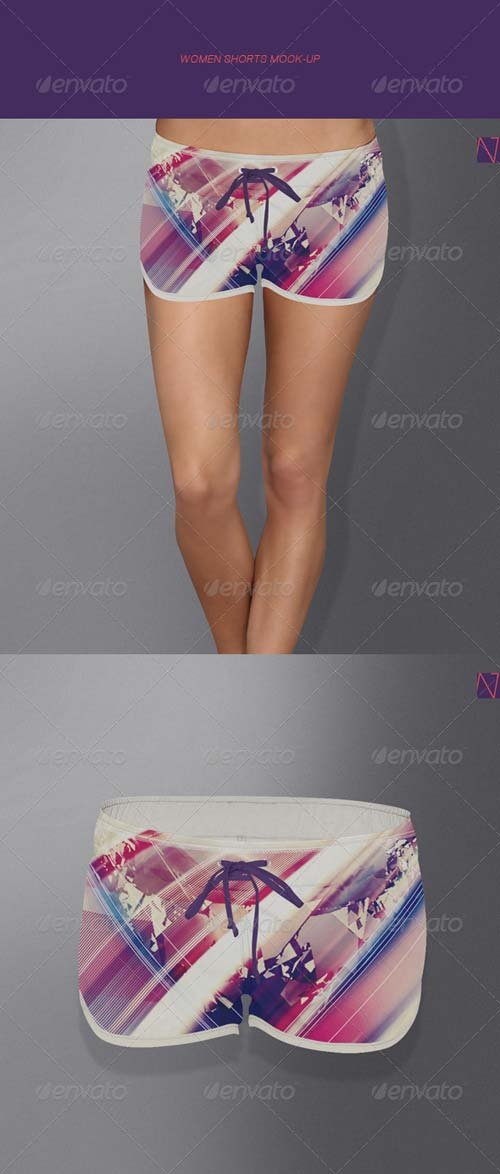 GraphicRiver Women Shorts Mock-up