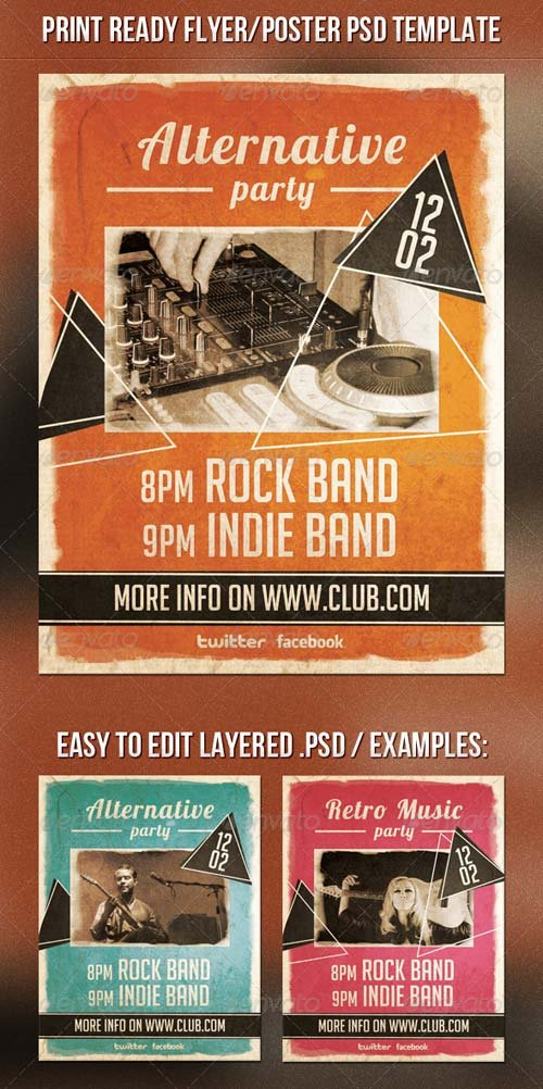 GraphicRiver Alternative Party Flyer 6619002