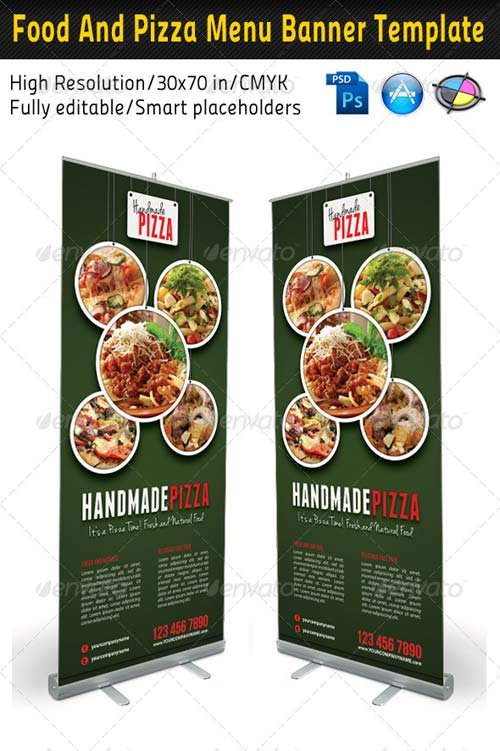 GraphicRiver Food And Pizza Menu Banner Template 03