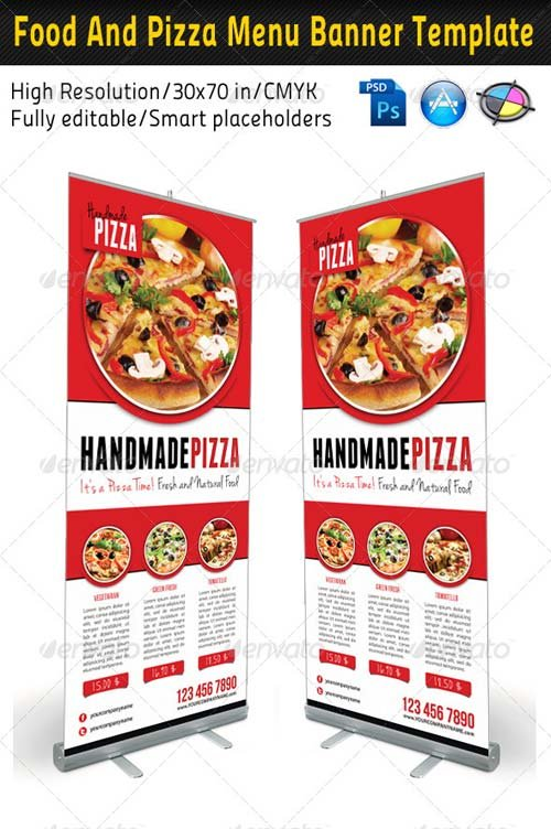 GraphicRiver Food And Pizza Menu Banner Template 01