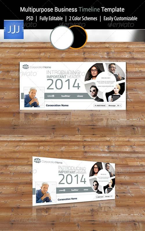 GraphicRiver Multipurpose Business Facebook Timeline 1