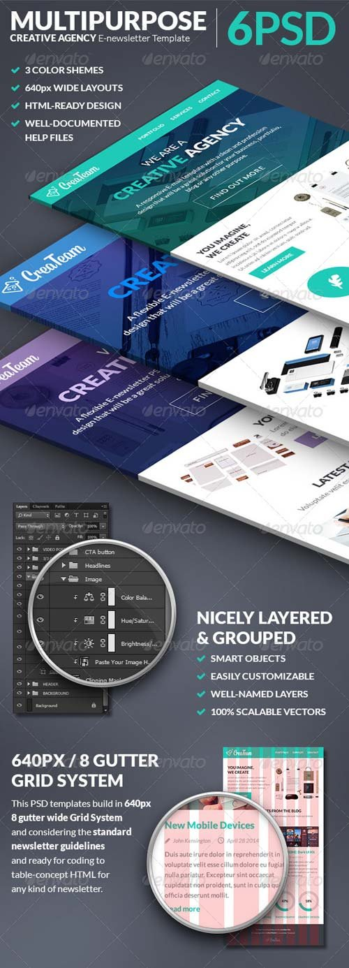 GraphicRiver Multipurpose Creative Agency E-newsletter Template