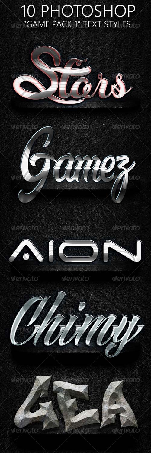 GraphicRiver Game Pack 01 Text Styles