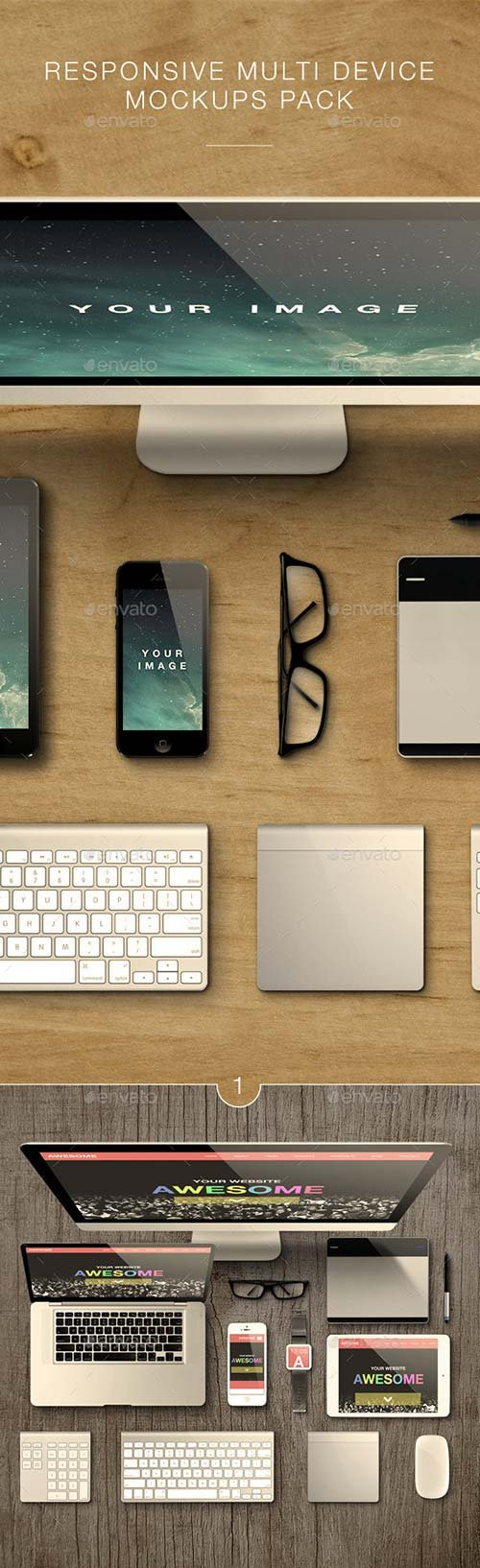 GraphicRiver Responsive Multi Device Mockups Pack