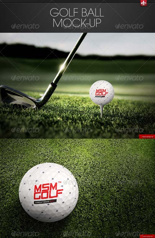 GraphicRiver Golf Ball Mock-up