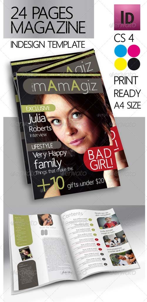 GraphicRiver 24 Pages Modern Magazine InDesign Template