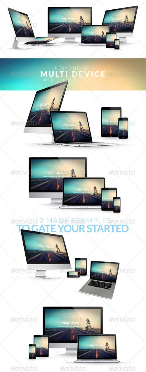 GraphicRiver Responsive Multi Device Mockup Pack