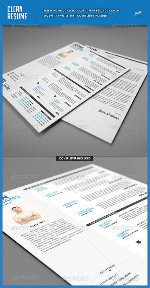GraphicRiver Clean Resume Vol.1
