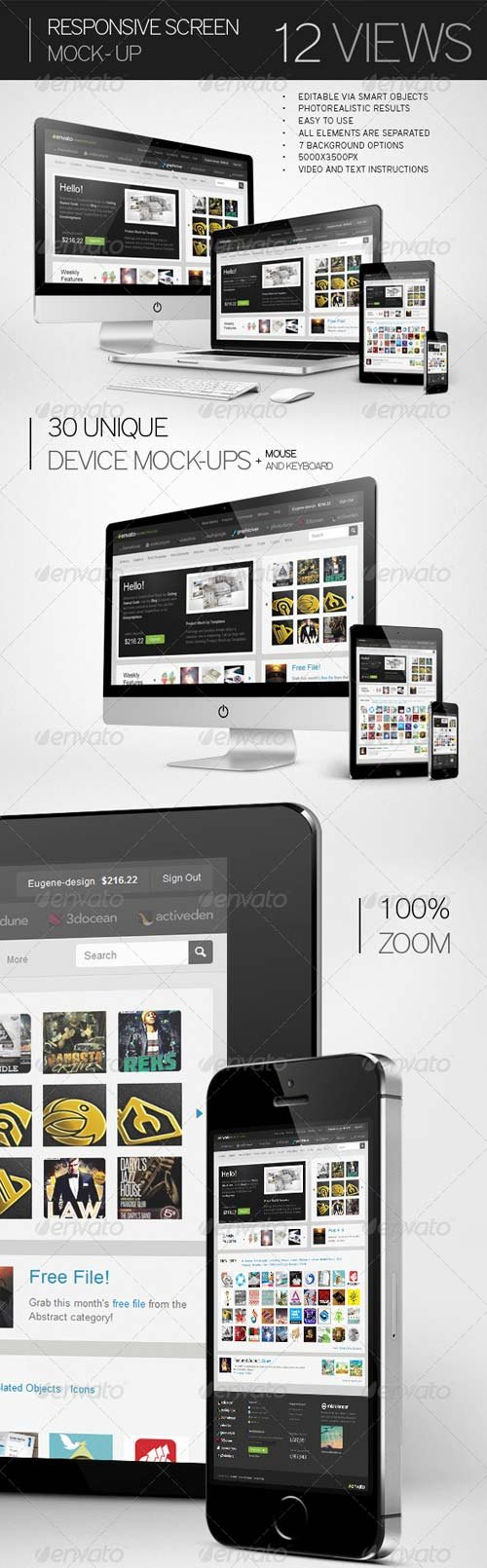 GraphicRiver Responsive Screen Mock-Up 7414672