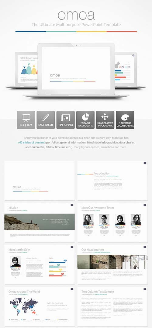 GraphicRiver Omoa - Ultimate Multipurpose PowerPoint Template