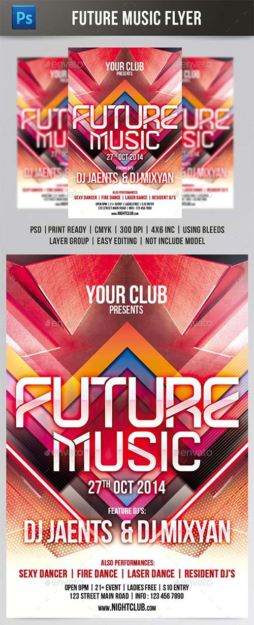 GraphicRiver Future Music Flyer