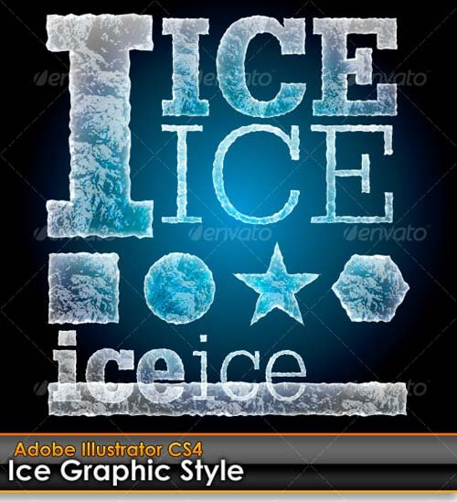 GraphicRiver Ice Illustrator Graphic Style