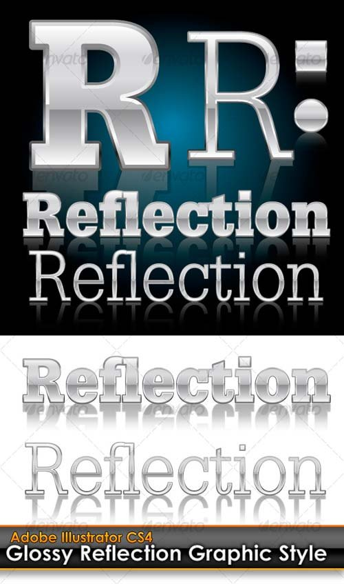 GraphicRiver Glossy Reflection Illustrator Graphic Style