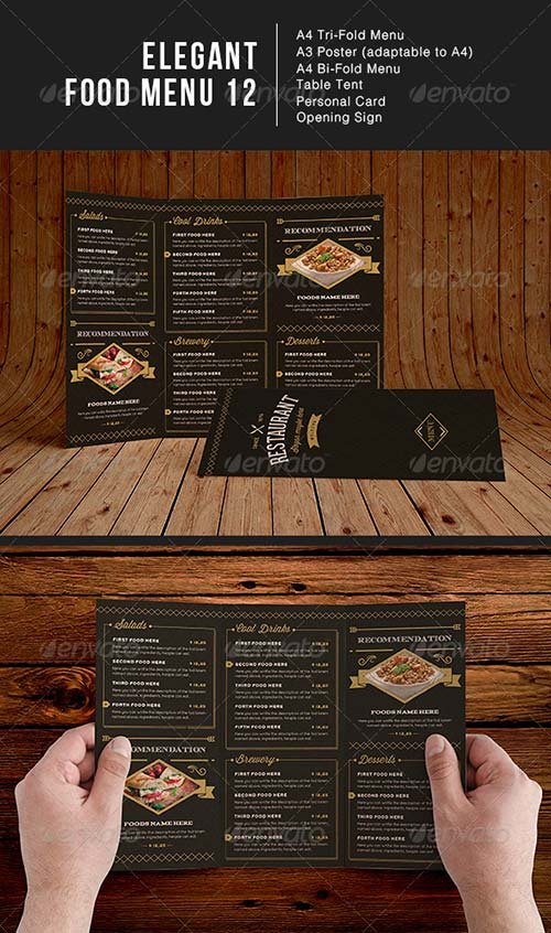 GraphicRiver Elegant Food Menu 12
