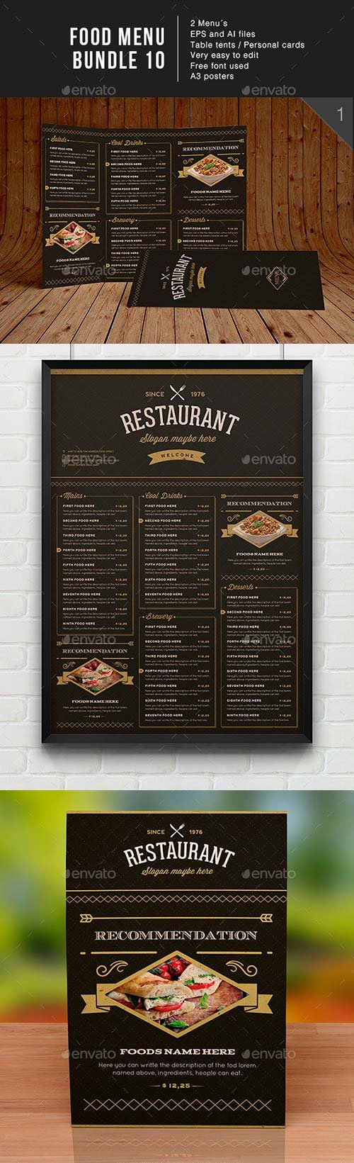 GraphicRiver Food Menu Bundle 10