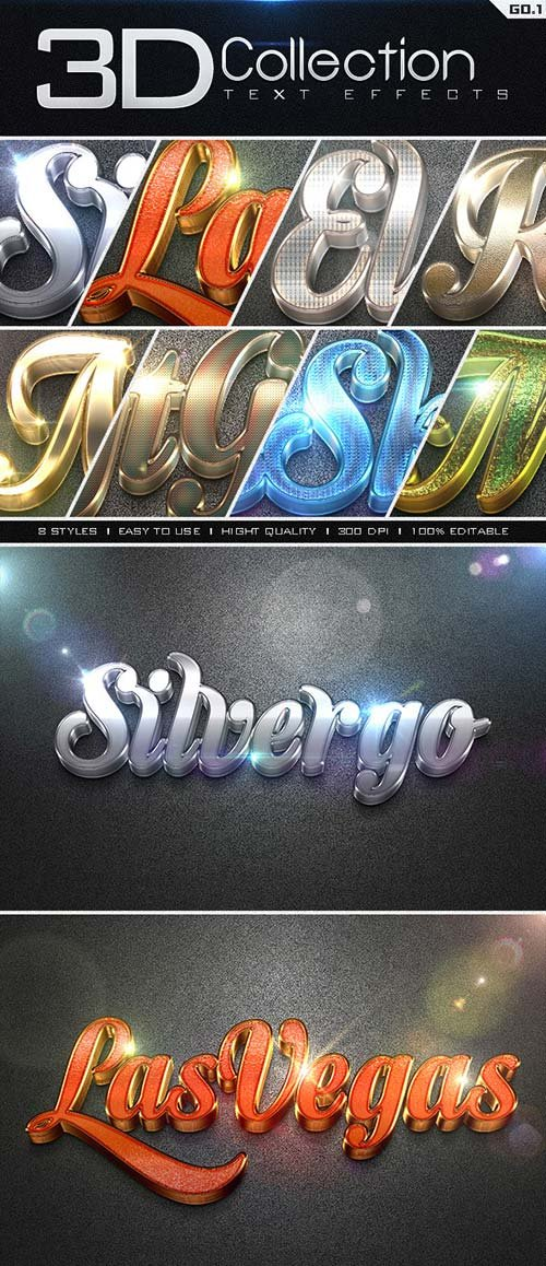 GraphicRiver 3D Collection Text Effects GO.1