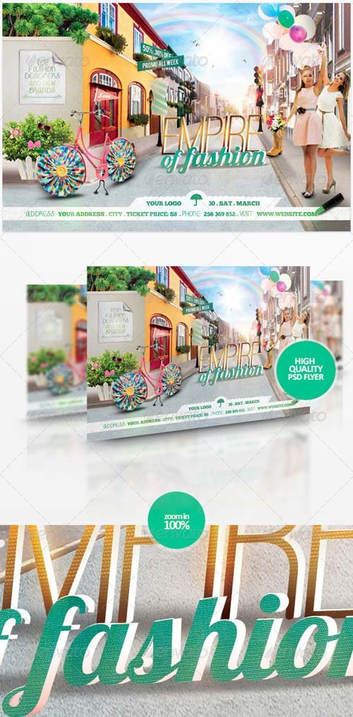 GraphicRiver Empire Of Fashion Flyer Template