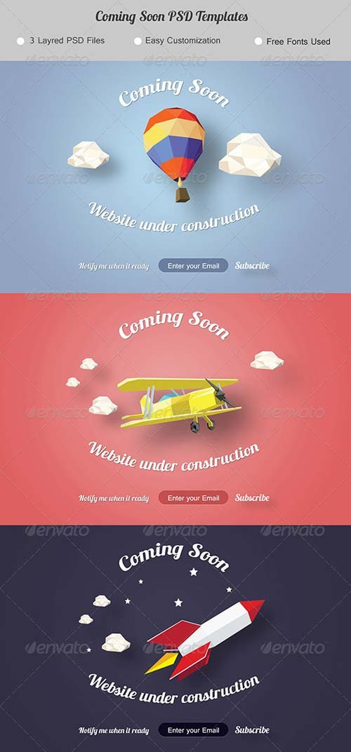 GraphicRiver Coming Soon. Under Construction Page.
