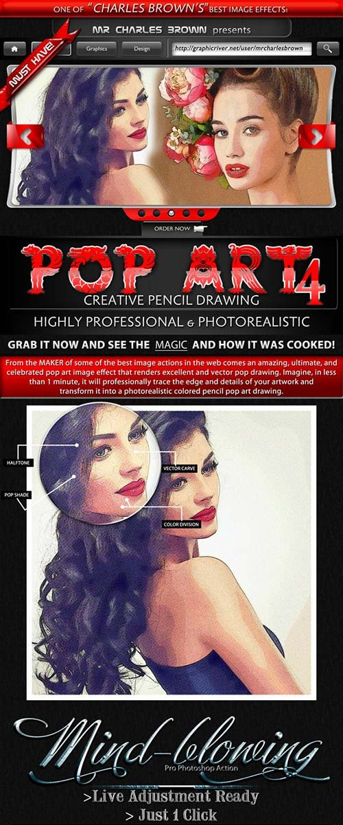 GraphicRiver Creative Pop Art Pencil Drawing Vol. 4