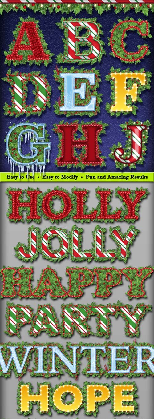GraphicRiver Holly Jolly Graphic Styles