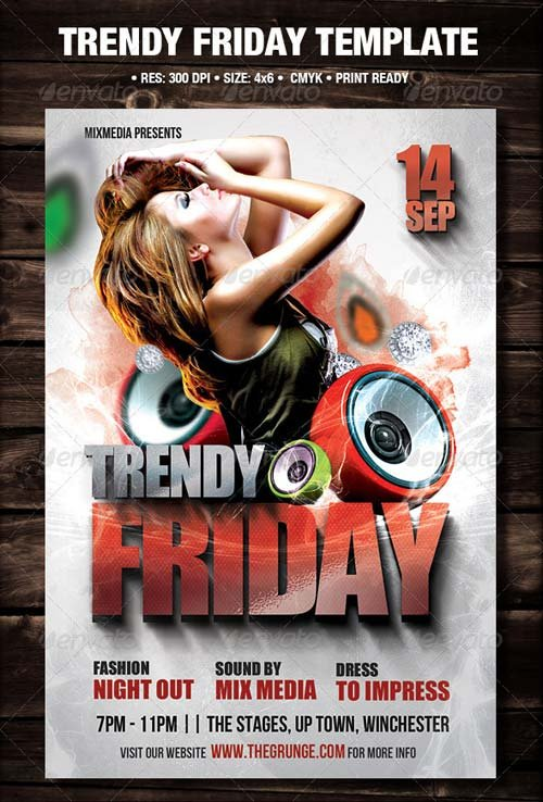 GraphicRiver Trendy Friday Flyer