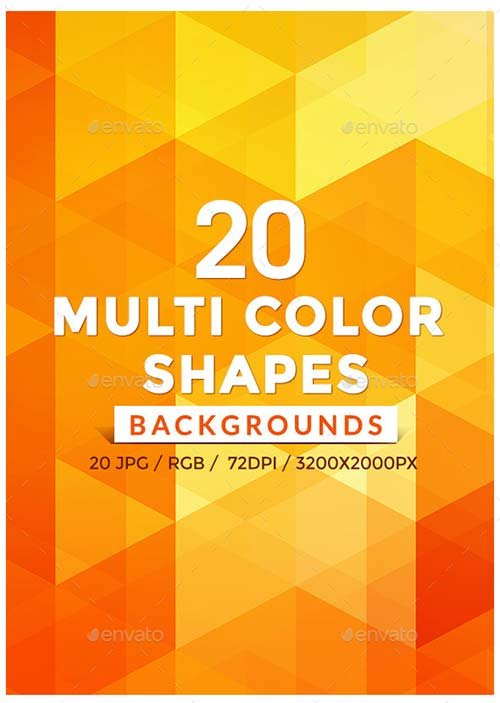 GraphicRiver 20 Multi Color Shape Backgrounds