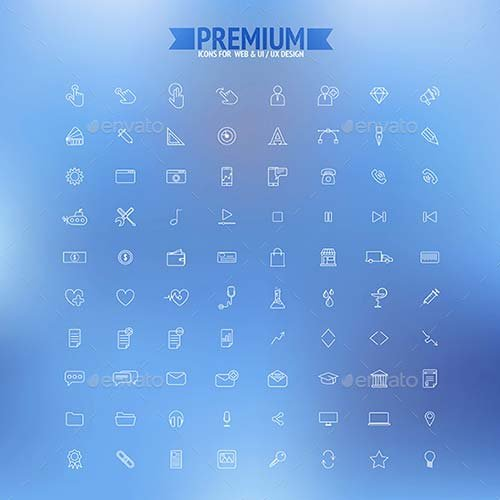 GraphicRiver Set of Simple Line Icons