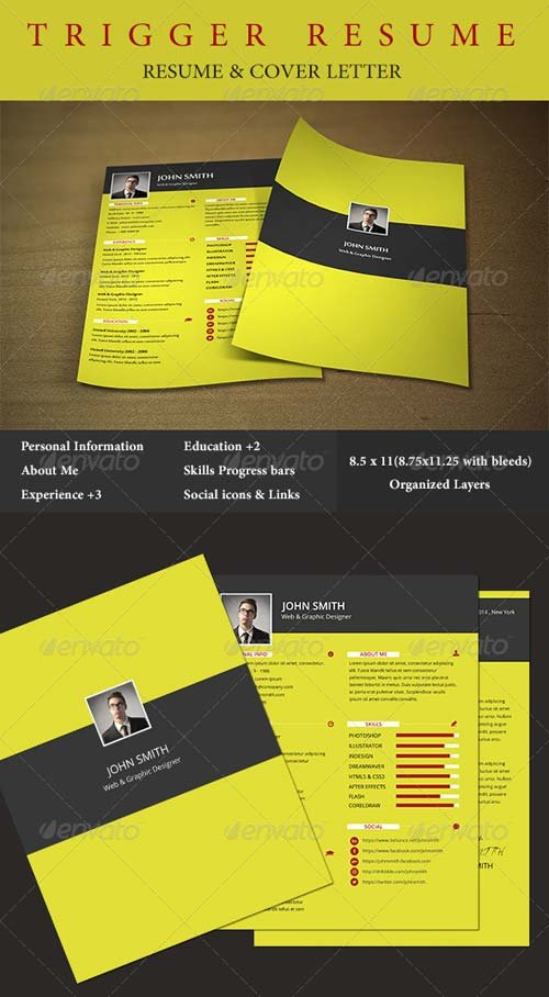 GraphicRiver Trigger Resume