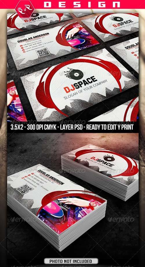 Business Card Design Graphicriver Dj Business Card Template Graphicflux