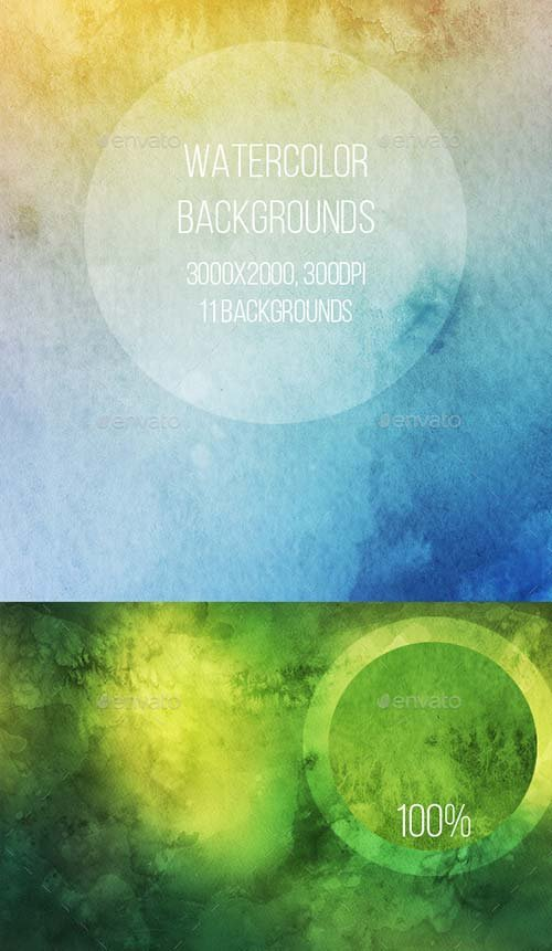 GraphicRiver Watercolor Backgrounds
