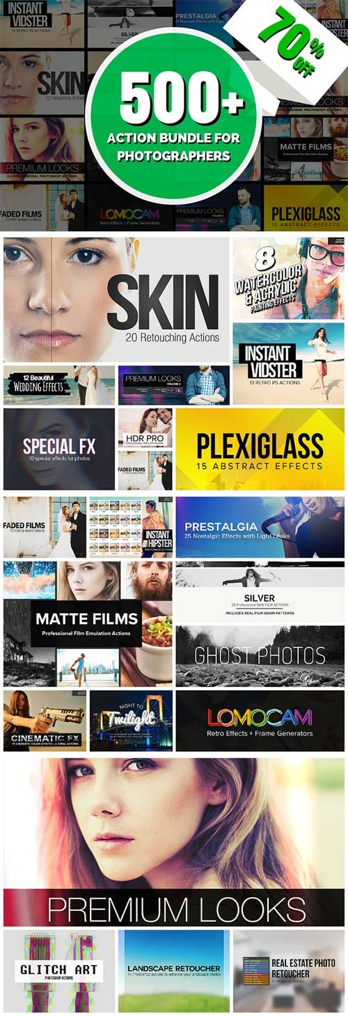 CreativeMarket 500+ Action Bundle