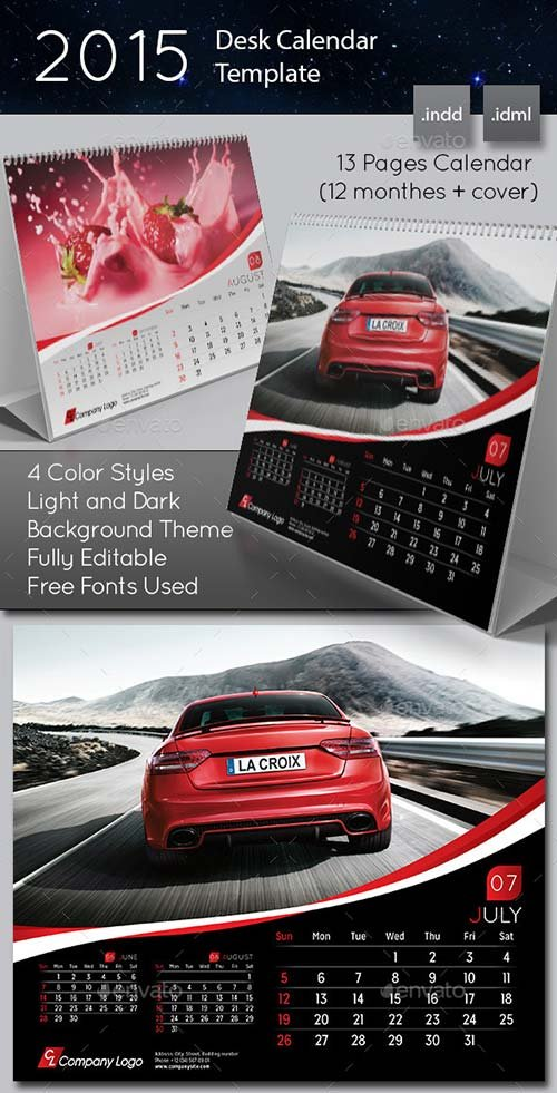 GraphicRiver 2015 Desk Calendar template