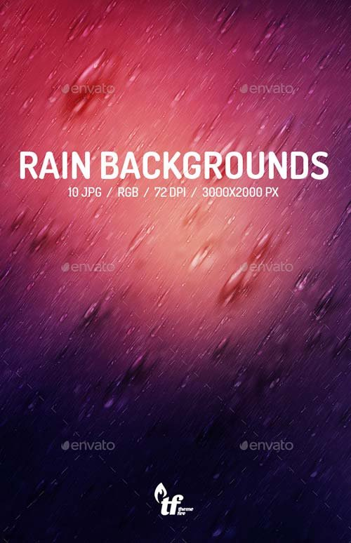 GraphicRiver Rain Backgrounds