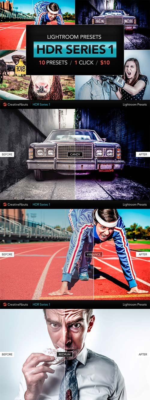 CreativeMarket HDR Lightroom Presets - V1