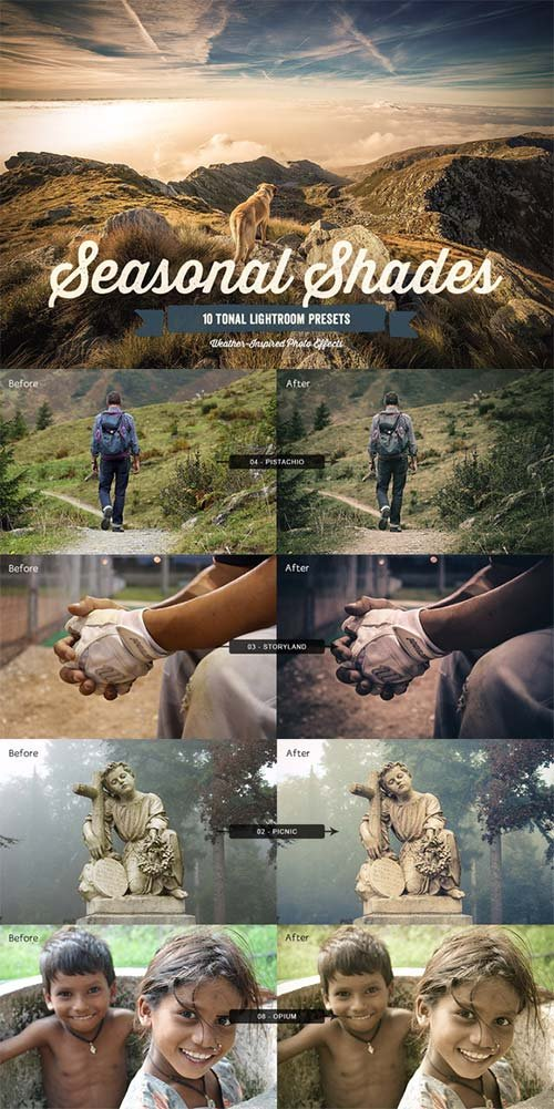 CreativeMarket Seasonal Shades Lightroom Presets 1